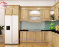 Tủ bếp bằng gỗ sồi Nga