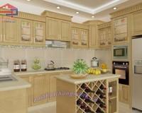 Tủ bếp gỗ sồi Nga giá rẻ của Hpro