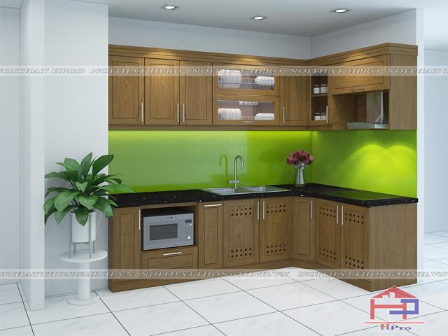 Cây xanh giúp thanh lọc không khí rất tốt trong phong thủy nhà bếp