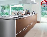 Chiều sâu tủ bếp dưới theo nhân trắc học là bao nhiêu?